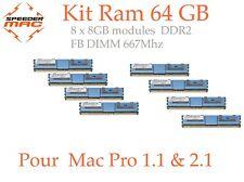  Kit Mémoire 64 GB (8x 8GB) DDR2  667MHz - FB-DIMM pour Mac Pro 1.1 & 2.1