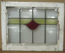 """OLD ENGLISH LEADED STAINED GLASS WINDOW Simple Stripe Design 21"""" x 16.25"""""""