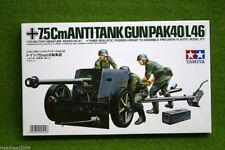 Tanque de Tamiya Segunda Guerra Mundial German 7.5cm anti pistola PAK40/L46 1/35 escala 35047