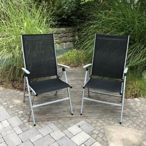 Hochlehner Gartenstuhl Klappstuhl 2er Set Campingstuhl Klappbar Campingmöbel