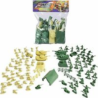 ACTION MISSION JUMBO ARMY PACK MILITARY FIGURES GREEN SAND BROWN NEW