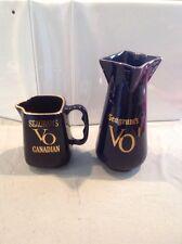 Seagram's VO Blue Ceramic Vase And Seagrams VO Pitcher NICE MUST L@@K