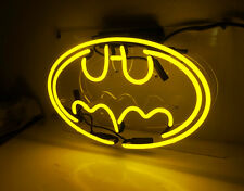 """Batman"" Neon Sign Boutique Shop Bistro Room Wall Handcraft Real Glass Artwork"