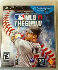 Mlb 11 The Show Baseball PS3 Eccellente 1a Edizione Americana con manuale