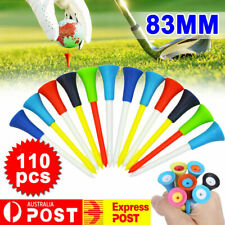 110Pack 83mm Golf Tees Multi Color Plastic With Rubber Cushion Top High Quality