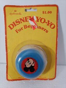 VINTAGE 1970s HALLMARK DISNEY WOOD YO-YO Mickey Mouse SEALED  Rare Collectible