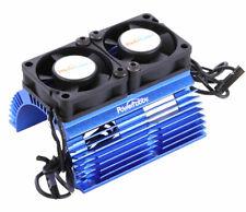 Powerhobby Heat Sink w Twin Turbo High Speed Cooling Fans 1/8 Motors Blue