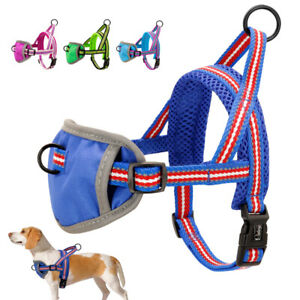 Front Clip No Pull Pet Dog Vest Harness for Walking Soft Mesh Padded Reflective