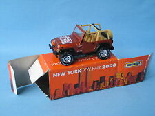 Matchbox Jeep Wrangler New York Toy Fair 2000 Boxed RARE 70mm Long