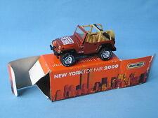 Matchbox Jeep Wrangler New York Toy Fair 2000 Boxed RARE 70mm Long