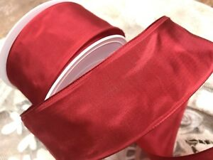 """Vintage French Ribbon Acetate  2"""" True Red 1yd  Made in France"""