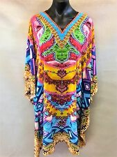 Loose Fitting Sheer Embellished Kaftan Digital Print Size 14-16-18-20-22-24
