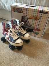 Roces Chuck Classic Roller Skates - Union Jack- UK 2 Used Twice