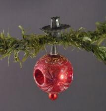 Alter Christbaumschmuck - Glasornament  als Kerzenhalter (# 10587)