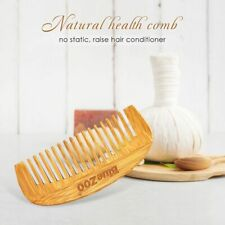 Men's Anti-static Wooden Wide Teeth Hair Comb Styling Tools Head Massage Brushes