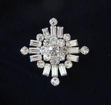 Vintage Kramer of New York Rhinestone Maltese Cross Pin Brooch Stunning