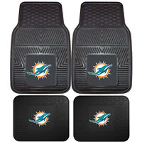 NFL Miami Dolphins Car Truck Rubber Vinyl Heavy Duty All Weather Floor Mats