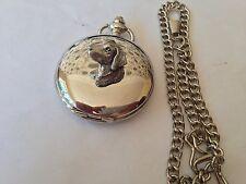 A23 SM Labrador'S HEAD Lucidato caso d'argento regalo uomo tasca al quarzo Orologio Fob
