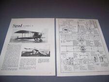 VINTAGE..SPAD 13 (C.1)..5-VIEWS/MEASUREMENTS/STRUCTURE...RARE! (792E)