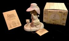 Precious Moments porcelain girl w/kitten Special Mom 1983 w/tags E-2824