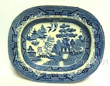 Willow Pattern Transfer Ware Pottery Tableware Platters