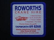 ROWORTHS CRANE HIRE CASHEL FARM GOWRIE TAMWORTH 698268 COASTER