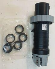 Good Condition LEVITON Plug 460P5W60 Amp, 600 Volt 3-Phase, 3P, 4WWATERTIGHT