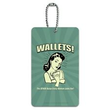 Wallets Other Bulge Woman Looks For Luggage ID Tag