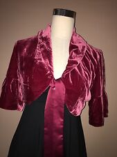 NWT The Limited Red Wine Velvet Short Open Top Sz. S