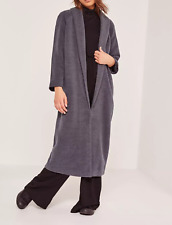 MISSGUIDED tall shawl collar wool maxi coat grey (M55/1)