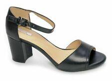GEOX D NESA C Women's Shoes sandals High Heel Black Leather UK Size 3.5  BNIB