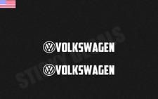(2) VW VOLKSWAGEN STICKER VINYL DECAL VEHICLE CAR EURO