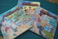 El Libro Policiaco crime cops & robbers Detective Mexican Comic Spanish Lot Of 3