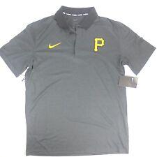 Men's Nike  BSBL MLB Pittsburgh Pirates Athletic Polo shirt gray size Medium NEW