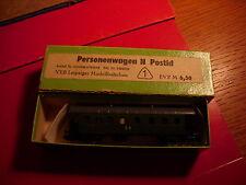 VEB Leipziger Modellbahnbau voiture voyageurs DB verte en boite éch N
