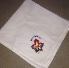 Vintage Souvenir of Canada Handkerchief