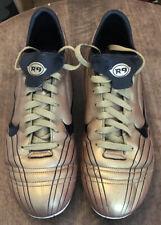 Nike Mercurial Vapor II Football Boots Size 10 Gold Rare R9 Ronaldo