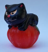 Vintage BLACK CAT & PUMPKIN Halloween Candle