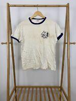 VTG Champion 80s Camp Don Lee Ringer Short Sleeve Single Stitch T-Shirt Size L