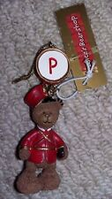 NEW. Hanging Ornament. Christmas - Alice's Bear Shop. Teddy Bear with letter P