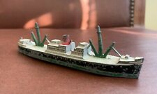 "Vintage TootsieToy Diecast Metal Battle Ship Boat Vessel Toy - 5.25"" L - #1038"