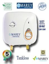 Electric Tankless Water Heater Marey PP220 3 GPM 220V Refurbished
