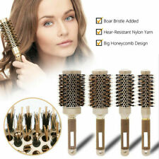 Professional Thermal Ceramic Ionic Round Barrel Hair Brush Comb with Boar Bristl
