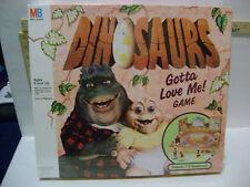NIB SEALED VERY RARE VINTAGE Dinosaurs Gotta Love Me Board Game by MILTON BRAD.