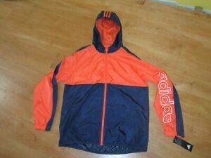 NWT ADIDAS Boy's Color Blocked Hooded Windbreaker XL 18-20