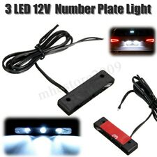 12V LED License Number Plate Light Lamp Universal Car Motorcycle White Lamp