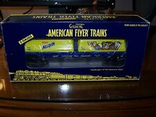 American Flyer S Scale 6-48537 Nestle Nesquik Flatcar with Milk Containers NIB