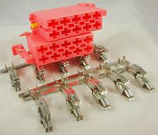 DEFENDER TD5 Speedometer 2 x Pink 10-Way ISO Connectors & Terminals