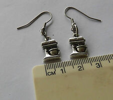 Master chef,mixmaster, food mixer, love cooking imported pewter charm earrings