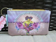 Freedom Lies Being Bold Papaya Art Coin Purse Mini Small Wallet ID Keyring